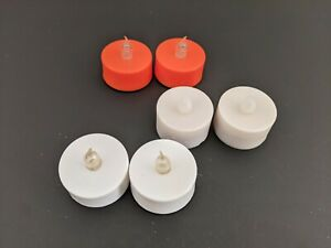 6 Halloween Tealight Candles w 4 Batteries * Used