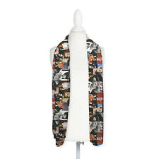George Michael Colourful Montage Design Lightweight Chiffon Long Scarf *SALE*