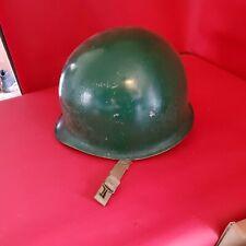 New listing Vintage Military Helmet Army Green Metal