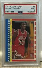 1987 Fleer Sticker #2 Michael Jordan - PSA 9 MINT - New PSA Case/Slab!!