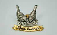 True Friends Birds Two Tone Vintage Lapel Pin