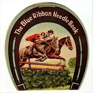 Blue Ribbon Needle Book ~ Superior 3/9 1/5 Made In Japan Needles VTG - Has 34