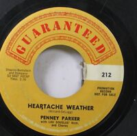 50'S & 60'S Promo 45 Penny Parker - Heartache Weather / There'S A Big Wheel On A
