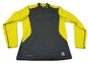 Nike Pro Combat Dri-Fit Fitted Men's Hyperwarm Long Sleeve Shirt Size Medium