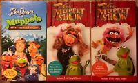 """""""The Muppet Show"""" & """"John Denver And The Muppets Rocky Mountain"""" VHS Lot Of 3"""