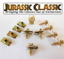 46-80 Mopar 8pk 1/4-20 Yellow Zinc Fender Body U-Nuts & Hex Head Bolts w/ Washer