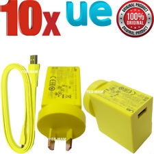10x Original 2a Wall Charger & Micro USB Cable for Logitech UE Boom 2 Megaboom