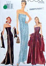 9947 Vogue Misses Evening Gowns Dress  Pattern sz  8-12 1998 UNCUT
