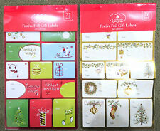 72pc Christmas Gift Labels Foil Xmas Present Labels Self Adhesive Sticky Tag
