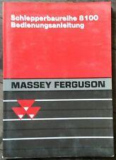Massey Ferguson Schlepper Baureihe 8100 Bedienungsanleitung