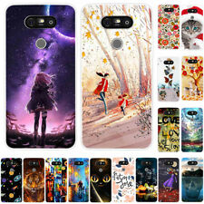 For LG K4 K7 K8 K40S K50S ThinQ Slim Soft Silicone TPU Painted Back Case Cover