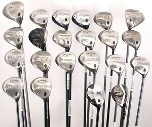 Lot of 22 Callaway Golf Drivers Fairway Hybrid Woods Loft/Lies/Flex/Length Vary