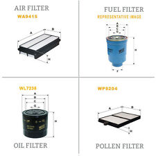 WIX AIR POLLEN OIL & FUEL Filter Service Kit WA9415,WP9204,WL7235,WF8218
