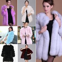Women's Warm Casual Winter Faux Fur Coat Jacket Parka Tops Thick Long Outwear ❤
