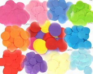 Tissue Paper Confetti Round 15mX14g Wedding Party Flame Retardant Bio-degradable