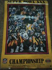PITTSBURGH STEELERS SUPER BOWL XXX CHAMPIONSHIP POSTER SUN DEVIL STADIUM 1996