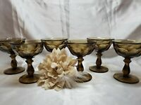Imperial Old Williamsburg Brown Tall Dessert / Champagne Glass Goblet - Set of 6