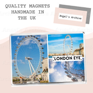 LONDON EYE ✳ ENGLAND ✳ UK ✳ SOUVENIR TOURIST HOLIDAY ✳ FRIDGE MAGNET ✳GREAT GIFT