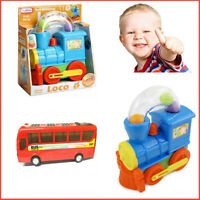 LOCO Train BUS Kids Baby Toys Activity Shape Sorter Kit Ball Blowing Push Along