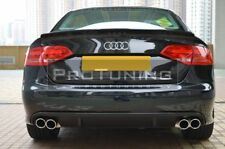 S4 exhaust conversion For A4 B8 07-11 rear bumper diffuser tips tail pipes Sport