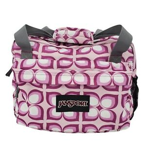 Jansport Womens Medium Purple Flower Print Gym Duffle Overnight Bag