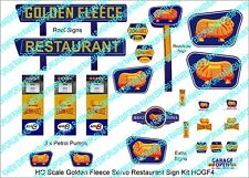 HO Scale Golden Fleece Servo Restaurant Sign Kit - Model Railway Signs - HOGF4