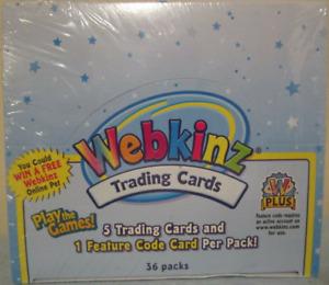 WEBKINZ BOX OF TRADING CARDS - SERIES 1- NEW SEALED BOX- 36 PACKS CODES PETS