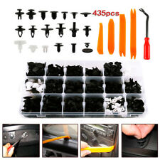 435PCS Plastic Car Body Rivet Retainer Clips Push Pin+5PCS Fastener Removal Tool