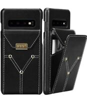 "Case for Samsung Galaxy S10 Plus 6.4""  Cowhide Genuine Leather Wallet"