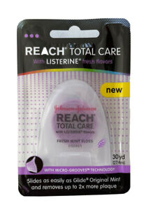 Reach Total Care Fresh Mint Floss with Listerine Flavors 30 yd