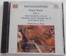 Karol Szymanowski: Piano Works, Vol. 1 Martin Roscoe GERMAN Pressing CD