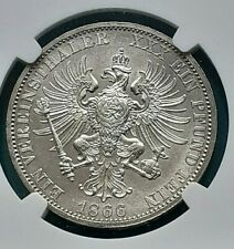 Prussia Victory Taler Thaler 1866 A NGC MS-64