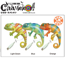 HTF Japan Moveable USB Light Green Chameleon PC Pet / Gadget By © Cube.co.jp