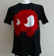 MCQ BNWT ALEXANDER MCQUEEN Medium Black/Red Flocked Monster McQ T-Shirt-M-