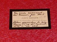 CDV SIGNEE 12 LIGNES AUTOGRAPHES J.-GUY ROPARTZ (Compositeur Musique) Ca 1910