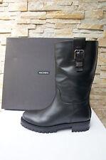 orig Dolce & Gabbana D&G Gr 39 Stiefel Boots Bottes Schuhe schwarz neu UVP 593€