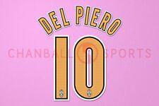 Del Piero #10 2004-2006 Juventus Homekit Nameset Printing