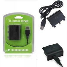 Play & Charge Rechargeable Battery 2400mAh Kits Cables for Xbox One S/X/Elite