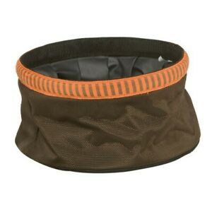 Mud River Quick Quack Collapsible Dog Food Bowl Brown New