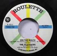 50'S & 60'S 45 The Playmates - On The Beach / The Song Everybody'S Singing On Ro