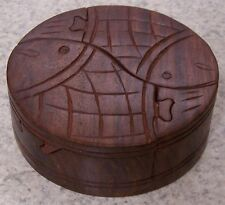 Wood Jewelry Puzzle Box Pair of Fish NEW