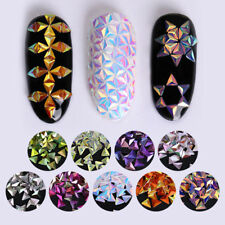 Colorful Nail Art Glitter Chameleon Triangle Iridescent Flakes Sequins