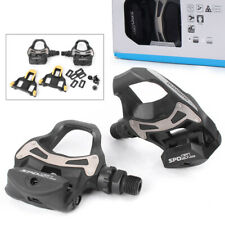 SM Bike PD R550 SPD SL Clipless Bicycle Foot Pedals with Float Cleats