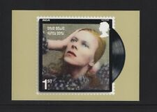 DAVID BOWIE OFFICAL ROYAL MAIL POSTCARD featuring STAMP Hunky Dory, 1971