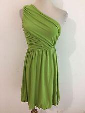 Alice + Olivia One-Shoulder Dress Leaf Green Size XS