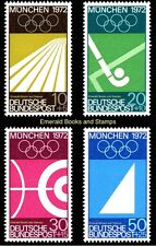 EBS Germany 1969 Summer Olympics Munich 1972 (I) Michel 587-590 MNH**