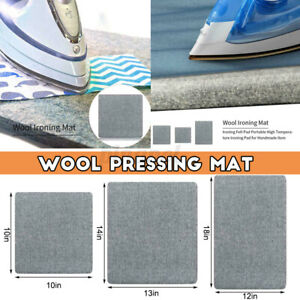 Bügelbrett Bügelpad Filz Pressmatte Grau Wollpressen Mattenbügeln Pad Wolle
