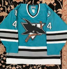 CCM Center Ice Authentic San Jose Sharks Vintage Teal Cronin Jersey size 52