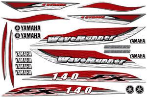 Decal Kit for 02,03,04,05 Yamaha FX140 Graphic Waverunner FX 140 Jet Ski RED