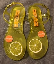 Katy Perry Geli Lemon Flat Sandal Sz 7 Rare Sold Out Fruit Scented NEW Yellow